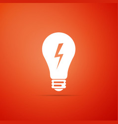 light lamp sign bulb with lightning symbol icon vector image