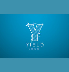 logo template letter y in the style of a vector image