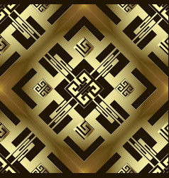 Luxury modern gold 3d greek seamless pattern vector