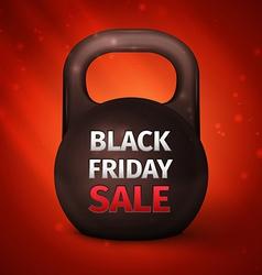 Metal dumbbell Black Friday Sale vector image