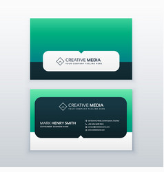 Modern company business card design vector