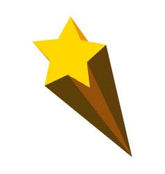 Nice shooting star art design vector