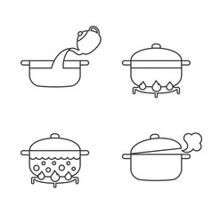 order of cooking info graphics vector image