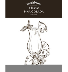 Pina colada composition vector