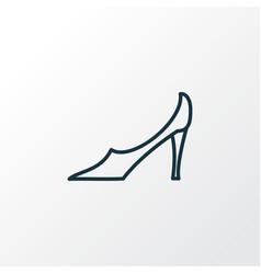 pump shoes icon line symbol premium quality vector image