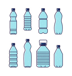 pure drinking water line of vector image