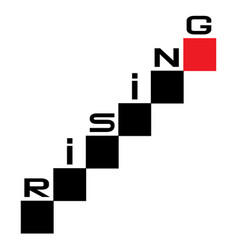 rising graph concept with cubes rising up vector image
