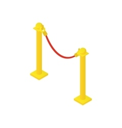 Rope barrier icon cartoon style vector image