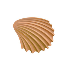Scallop seashell of mollusk colorful marine item vector