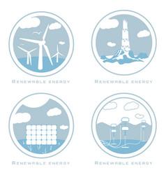Set alternative and renewable energy vector