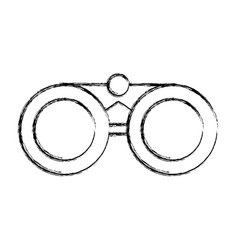Sketch draw binoculars cartoon vector