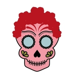 Skull drawing tattoo style isolated icon vector