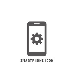 smartphone icon simple flat style vector image