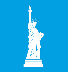 Statue of liberty icon white vector