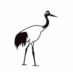 Stork icon simple style vector