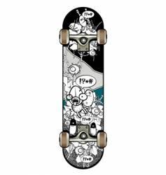 strange graffiti skateboard vector image