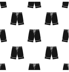 swimming trunks icon in black style isolated on vector image