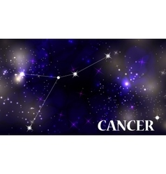 Symbol Cancer Zodiac Sign vector image