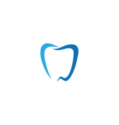 teeth care lines symbol for dentist clinic logo vector image