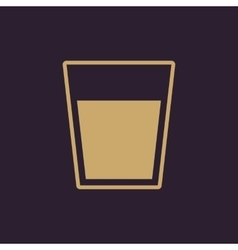 The glass icon Drink and water symbol Flat vector