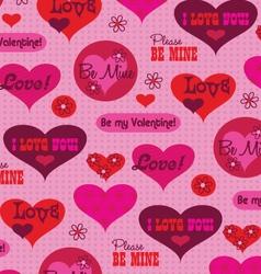 valentine message pattern vector image