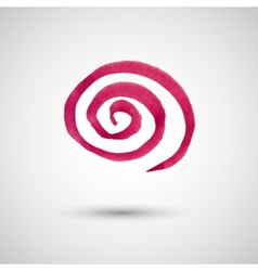 Watercolor spiral design element vector image