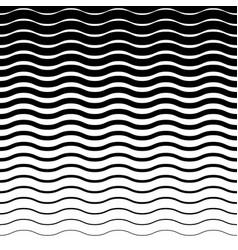 Wavy zig zag horizontal lines horizontally vector