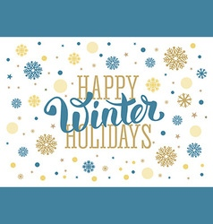 Winter holidays vector