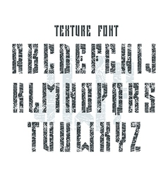 Bold stencil plate sans serif font with shabby vector image vector image