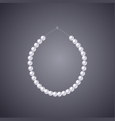 pearls necklace clipart vector image