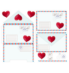 valentine letter flat icon vector image vector image