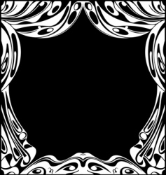 black and white theatrical curtains vector image