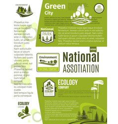 green city eco business ecology poster template vector image