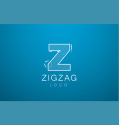 logo template letters z zigzaz in the style of a vector image vector image