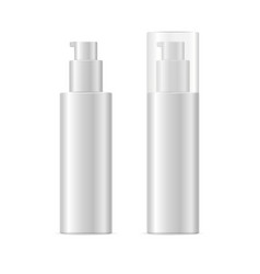 realistic template blank white spray cosmetic vector image vector image