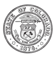 the state seal of colorado vintage vector image vector image