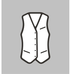 Business waistcoat on background vector image