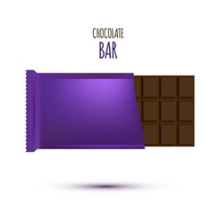 Chocolate Bar isolated on white background vector image