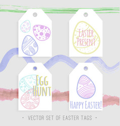 easter tags collection vector image