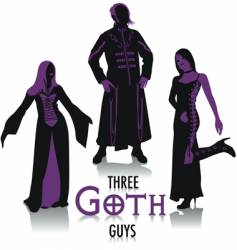 Goth silhouettes vector image vector image