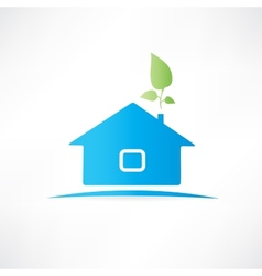 house with the plant vector image vector image