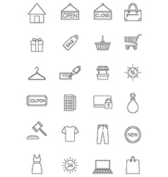 Shopping icon set vector image