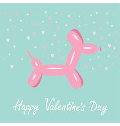 Balloon dog valentines day Flat design vector image