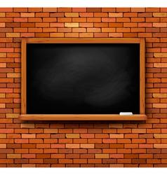 Brick wall with a blackboard vector image