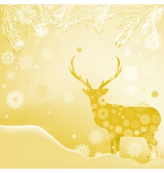 Christmas Invitation card template EPS 8 vector image vector image