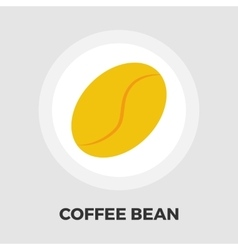 Coffee bean flat icon vector image