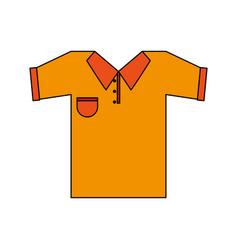 Color image cartoon golf t-shirt sport wear vector