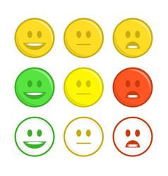 feedback emoticon icons vector image