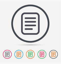 File icon document page sign vector