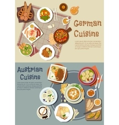 German and austrian cuisine dishes vector image vector image